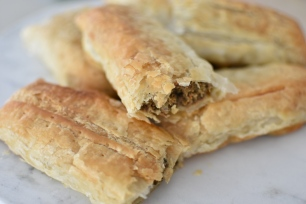 Made with puff pastry